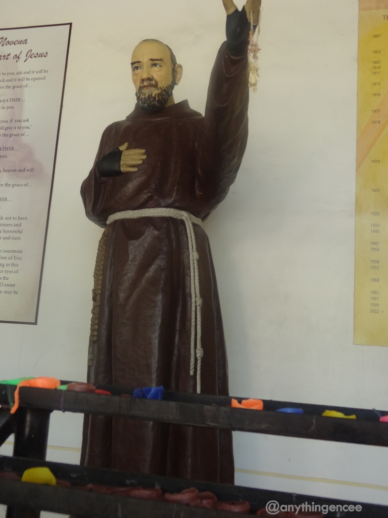 Statue of Fr. Pio in St. Francis of Assisi Church