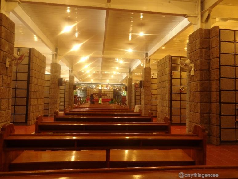 Columbarium inside the church