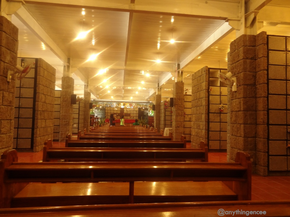 Columbarium inside the church