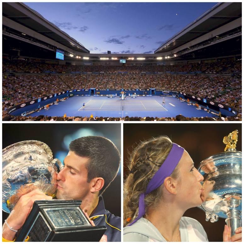 Novak Djokovic & Vika Azarenka winning 2013 Australian Open