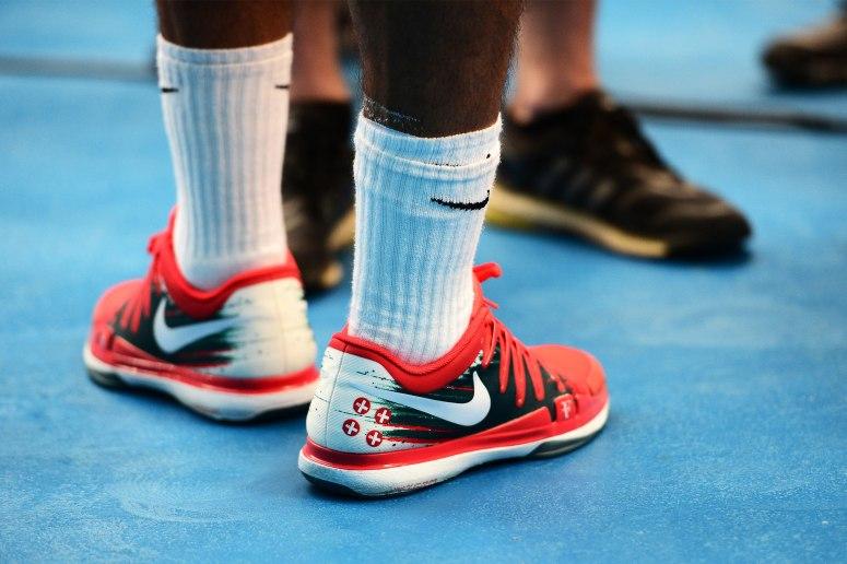 Roger Federer in the new Nike Zoom Vapor 9.5