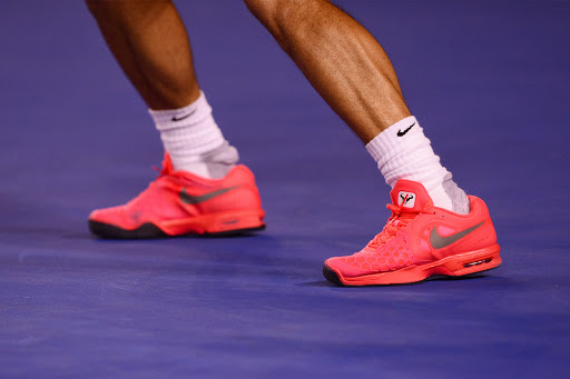 Rafa Nadal in his Nike Air Max Courtballistec 4.3