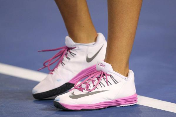 Vika Azarenka in the new Nike Lunar Ballistec shoes