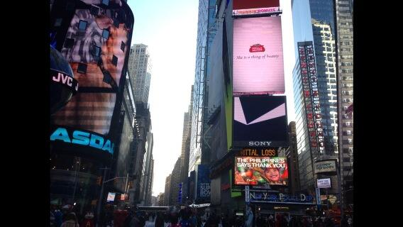 In Times Square NY, The Philippines Says THANK YOU!#PHthankyou  via @Jimenez_Mon